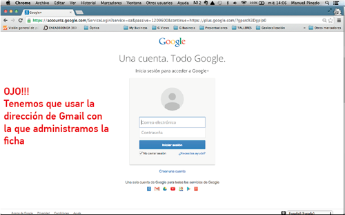 Tutorial Google My Business loguear